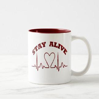 STAY ALIVE- CUPS Two-Tone MUG
