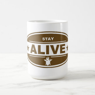STAY ALIVE MUG (BROWN)