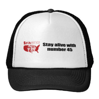 Stay alive with number 45 hats