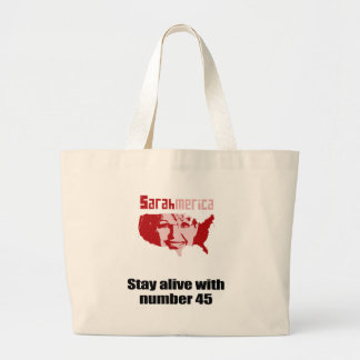 Stay alive with number 45 jumbo tote bag