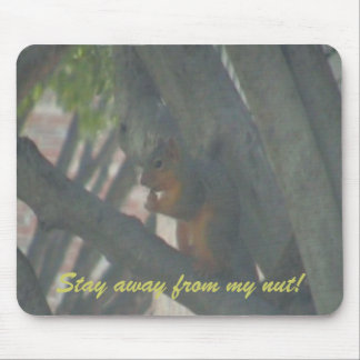 Stay away from my nut! mouse pad