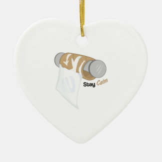 Stay Calm Ceramic Heart Decoration