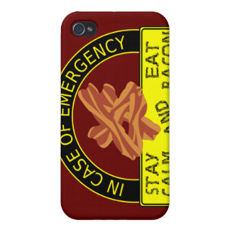 Stay Calm, Eat Bacon  iPhone 4/4S Covers