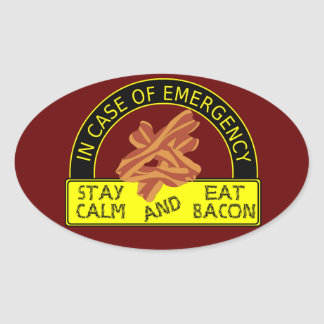 Stay Calm Eat Bacon Sticker