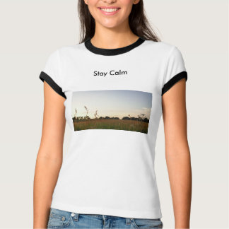 Stay Calm, Stay British.  Somerset Meadow Sunset T-Shirt