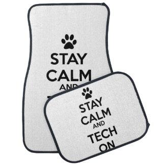 stay calm vet tech car mats floor mat
