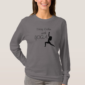 Stay Calm with Yoga -- Fashion long sleeve T T-Shirt