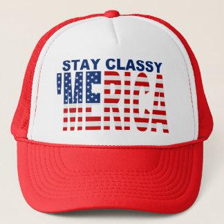 Stay Classy 'MERICA Black Snapback Trucker Hat