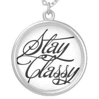 Stay Classy Round Pendant Necklace