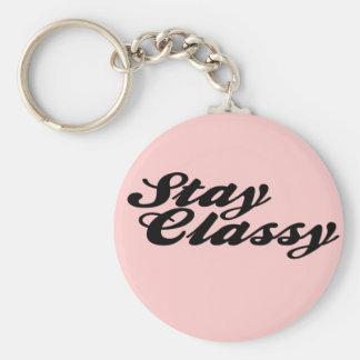 Stay Classy Vintage Key Ring