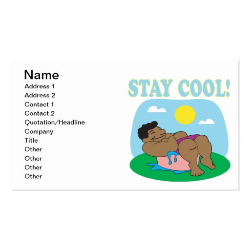 Stay Cool 3 Business Card Template