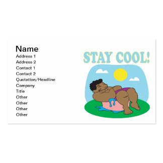 Stay Cool 3 Pack Of Standard Business Cards