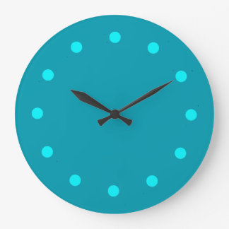 Stay Cool Teal Minimalist Clock