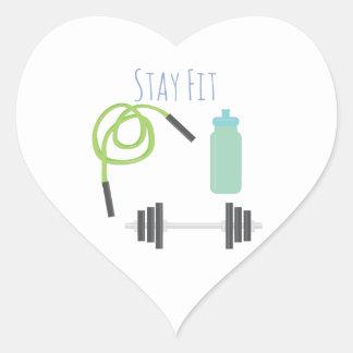 Stay Fit Heart Sticker