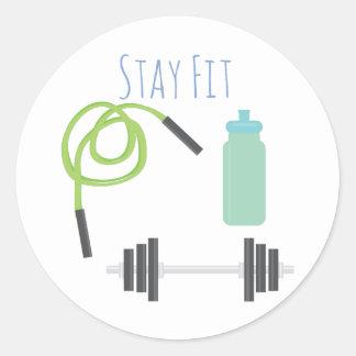 Stay Fit Round Sticker