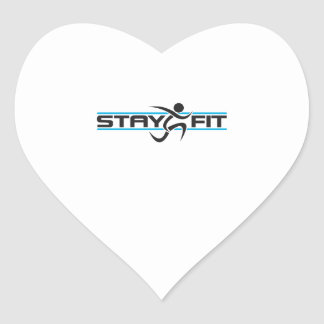 STAY FIT RUNNER HEART STICKERS
