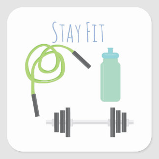 Stay Fit Square Sticker