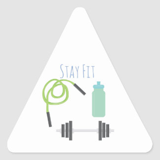 Stay Fit Triangle Sticker