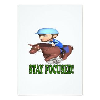 Stay Focused 13 Cm X 18 Cm Invitation Card