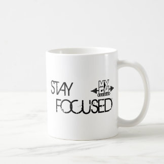 Stay Focused Basic White Mug