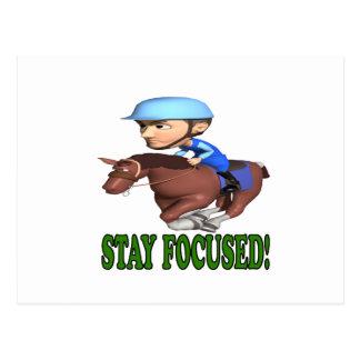 Stay Focused Postcard