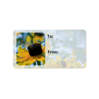 Stay Focused Quote Daisies Custom Gift Tag / Address Label