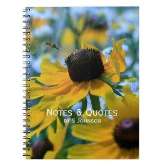Stay Focused Quote Daisies Spiral Note Book