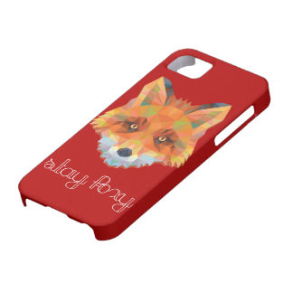 Stay Foxy Polygon Maroon Iphone 5/5s case