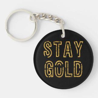 Stay Gold Key Ring