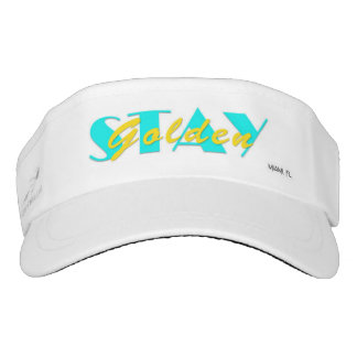Stay Golden Miami Florida, Visor (yellow)