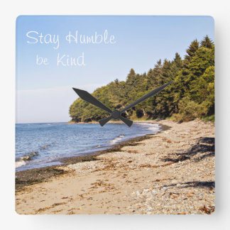 Stay Humble Be Kind Wall Decor Clock