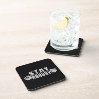 Stay Hungry - Bodybuilding Workout Motivational Beverage Coasters