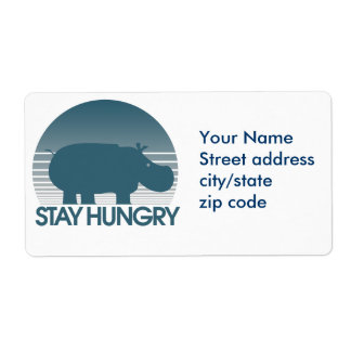 Stay Hungry Shipping Label