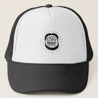 Stay Hungry Mouth Trucker Hat
