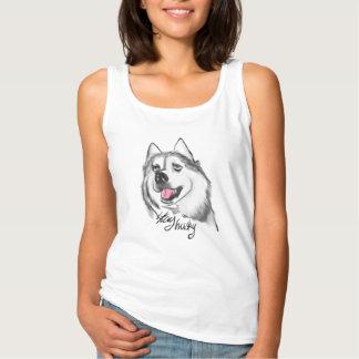 Stay husky women's funky t shirt