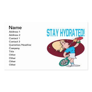 Stay Hydrated Pack Of Standard Business Cards
