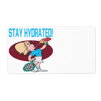 Stay Hydrated Shipping Label