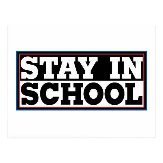 Stay In School Postcard