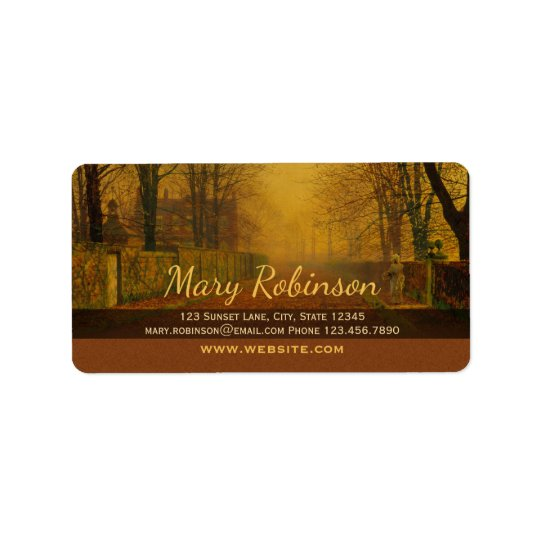 Stay in touch CC0537 Evening glow Address Label