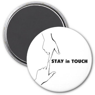 Stay in Touch Round Magnet Fridge Magnets