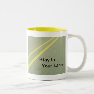 Stay In Your Lane products Two-Tone Coffee Mug