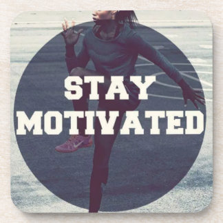 Stay Motivated - Women's Workout Motivational Drink Coasters