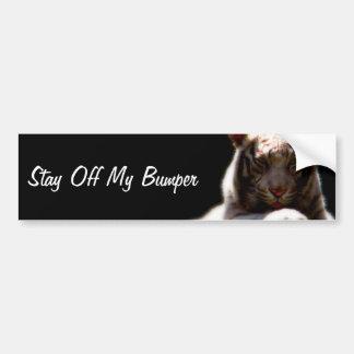 Stay Off My Bumper Tiger Bumper Sticker