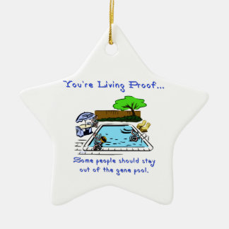 Stay Out of the Gene Pool Ceramic Star Decoration