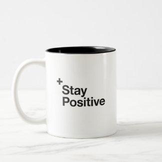 Stay positive - Motivational Two-Tone Coffee Mug