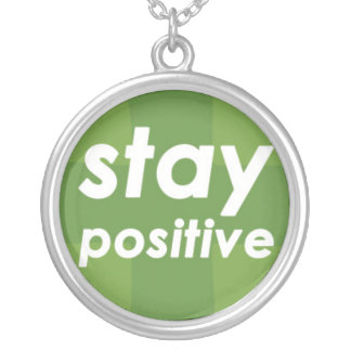 Stay Positive on Green Plus Round Pendant Necklace