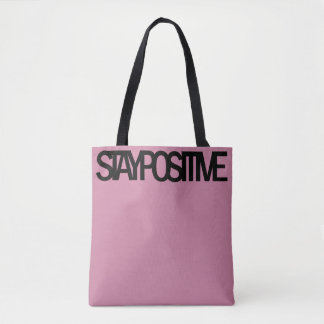 STAY POSITIVE Tote Bag (Purple)