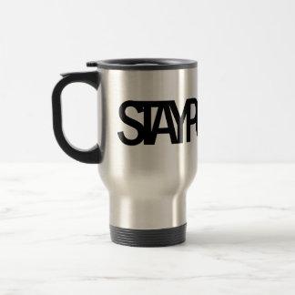 STAY POSITIVE Travel Mug (Black text)