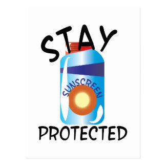 Stay Protected Postcard