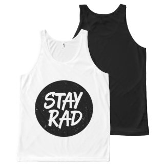 Stay Rad Typography All-Over Print Tank Top